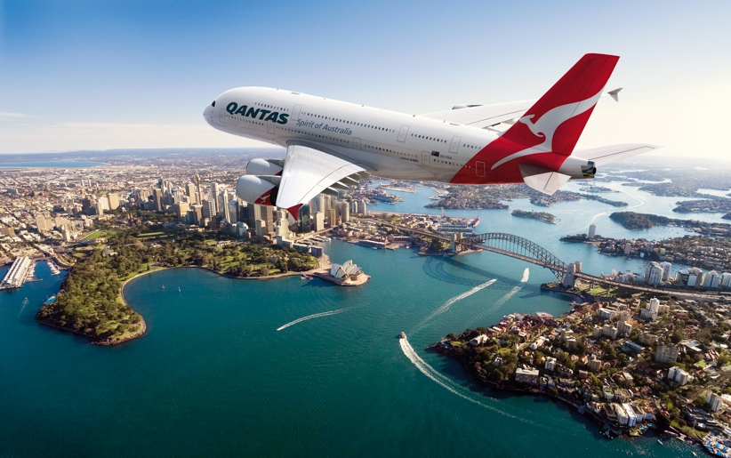 A380 flying over Sydney